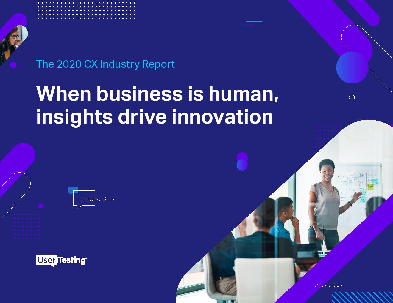 UserTesting:2020年客户体验行业报告