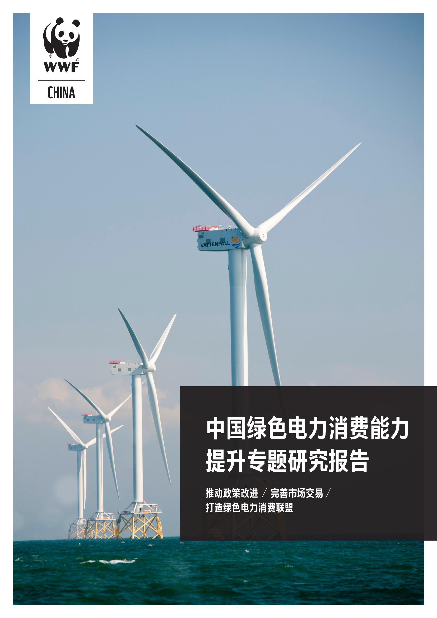 WWF:中国绿色电力消费能力提升专题研究报告