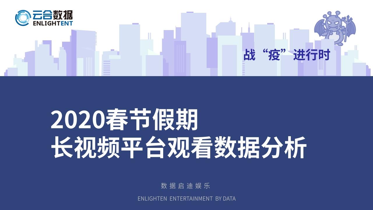 云合数据:春节假期长视频平台观看数据分析(附下载)