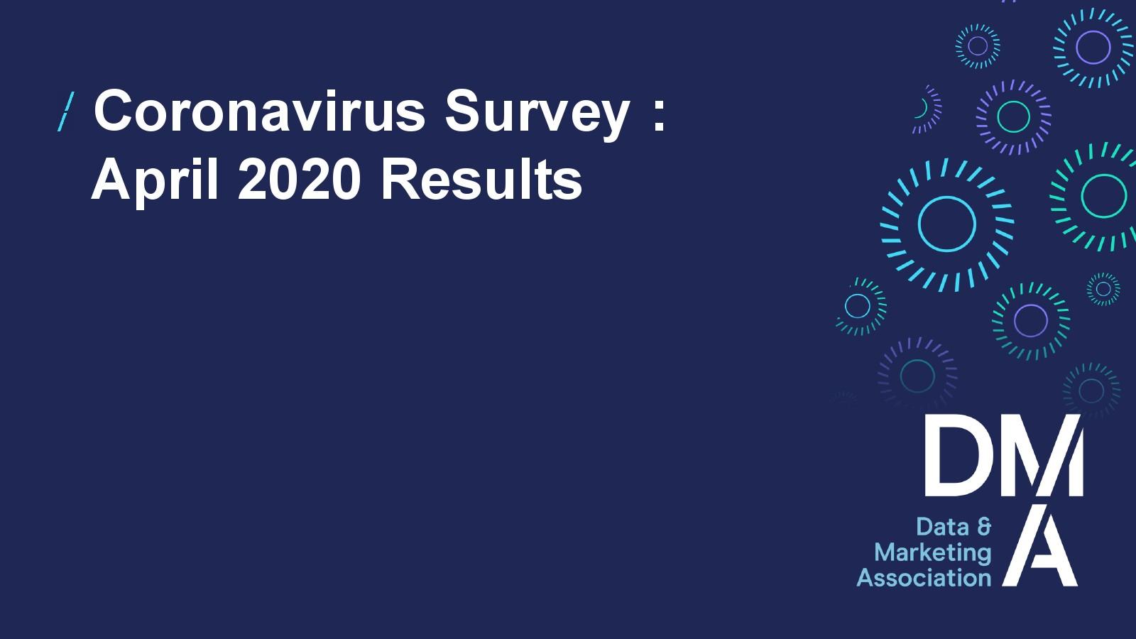 DMA:冠状病毒流行期间数据和营销行业报告