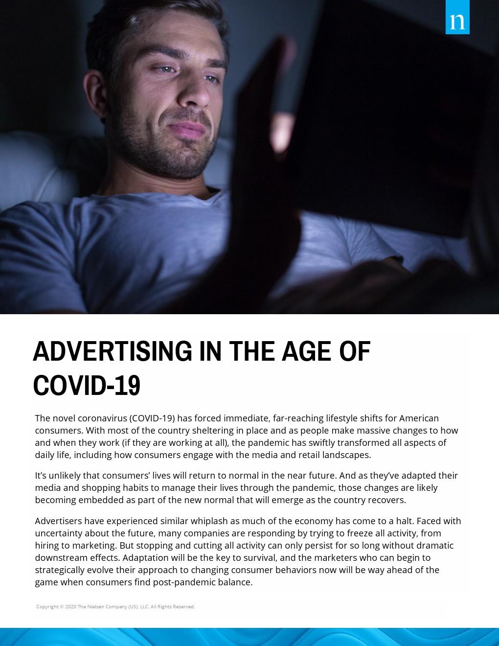 尼尔森:COVID-19时期的广告业