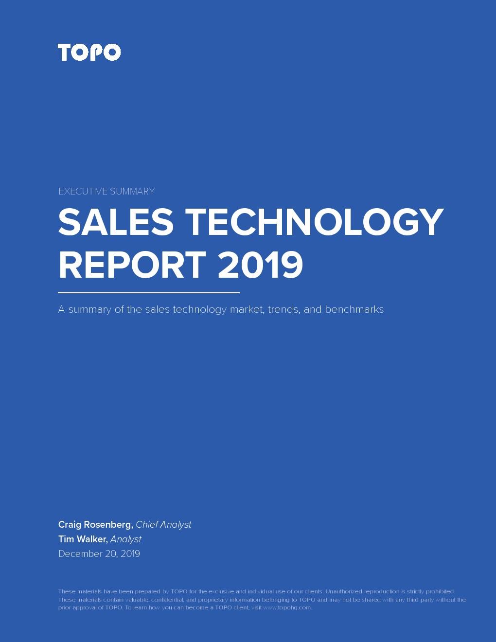 Topo:2019年销售技术报告
