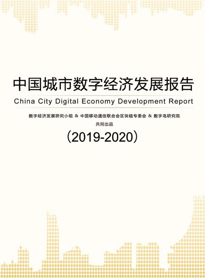 2019-2020中国城市数字经济发展报告(附下载)