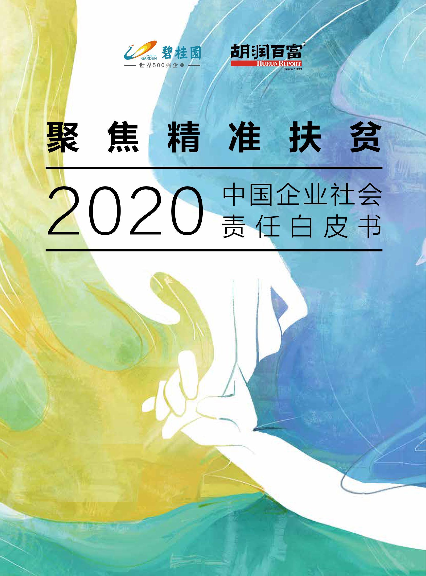 胡润研究院:2020中国企业社会责任白皮书(附下载)