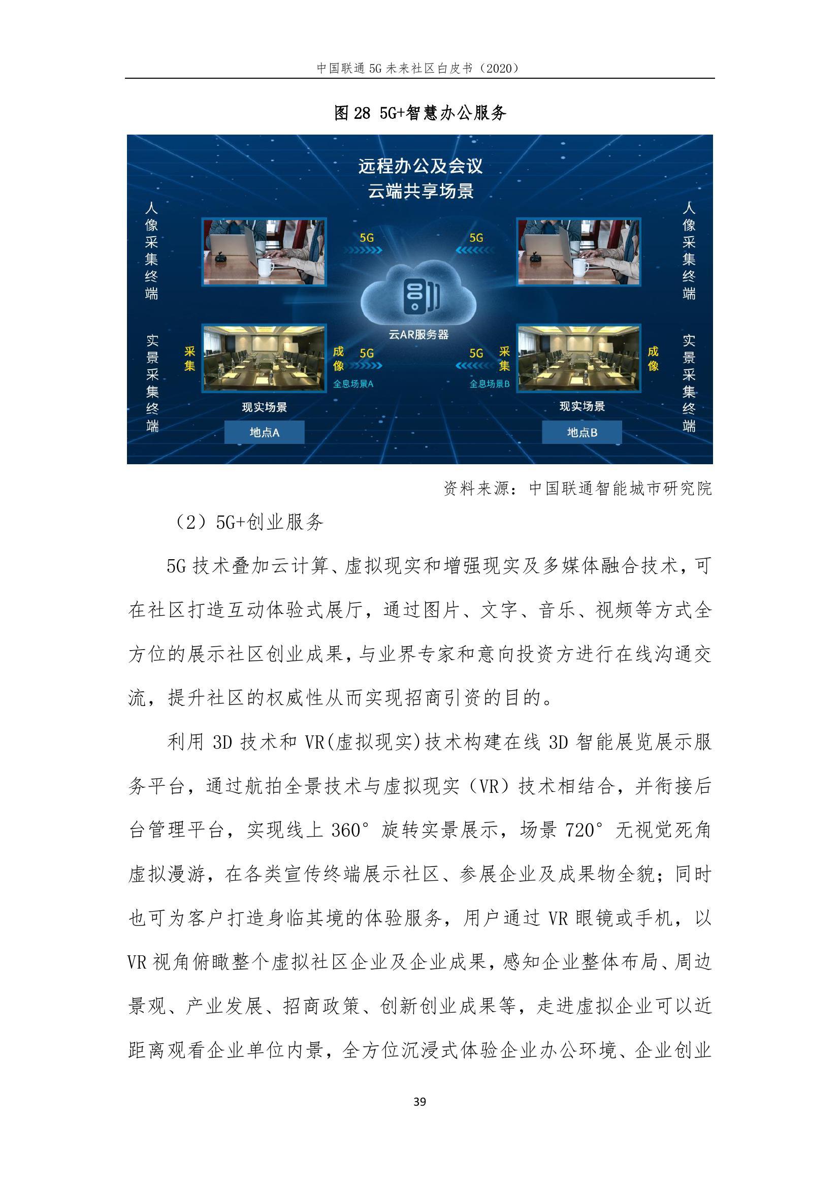 This image has an empty alt attribute; its file name is 2020年中国联通5G未来社区白皮书_000045.jpg