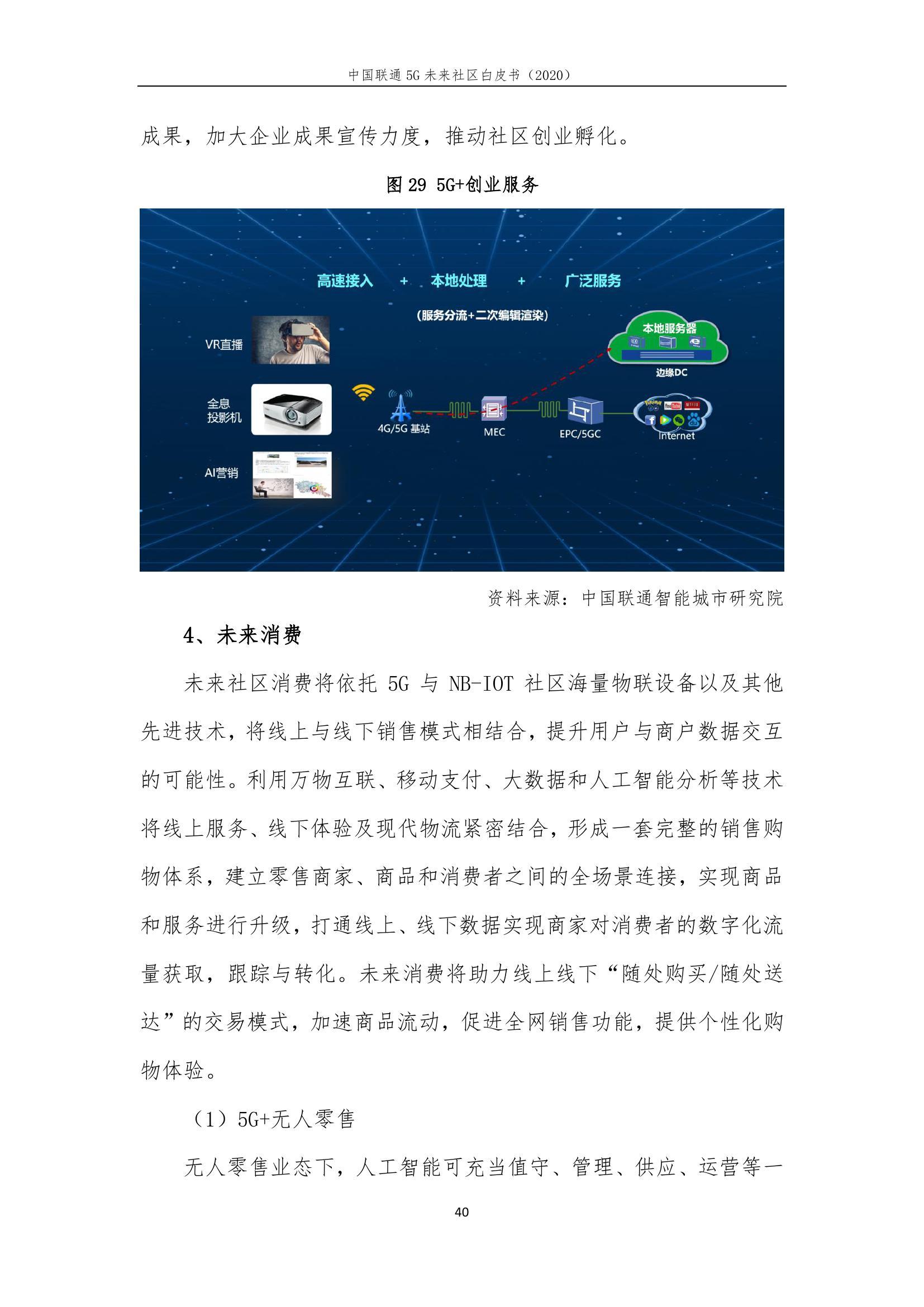 This image has an empty alt attribute; its file name is 2020年中国联通5G未来社区白皮书_000046.jpg