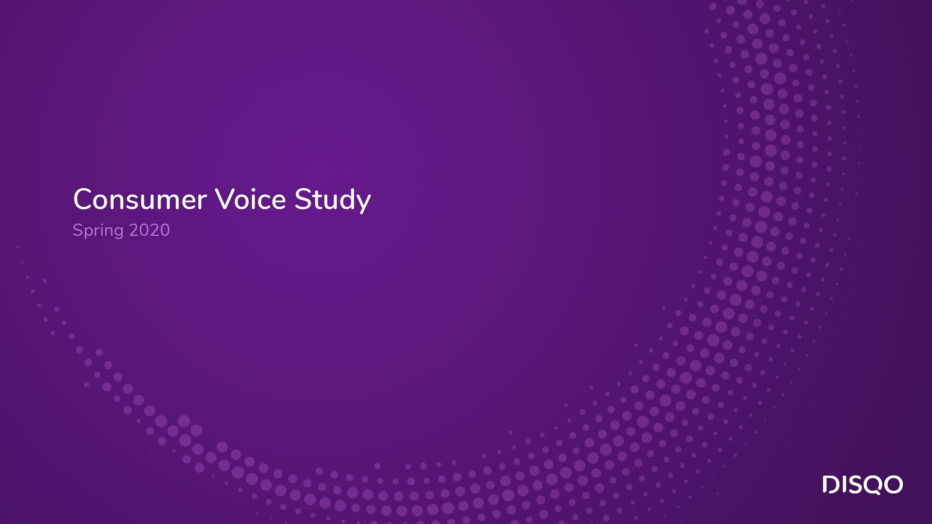 DISQO:2020年春季消费者心声研究报告