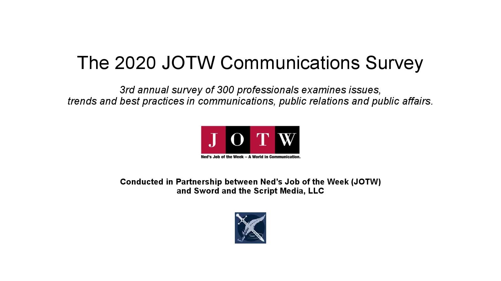 JOTW:2020年传播、公共关系和公共事务调查报告