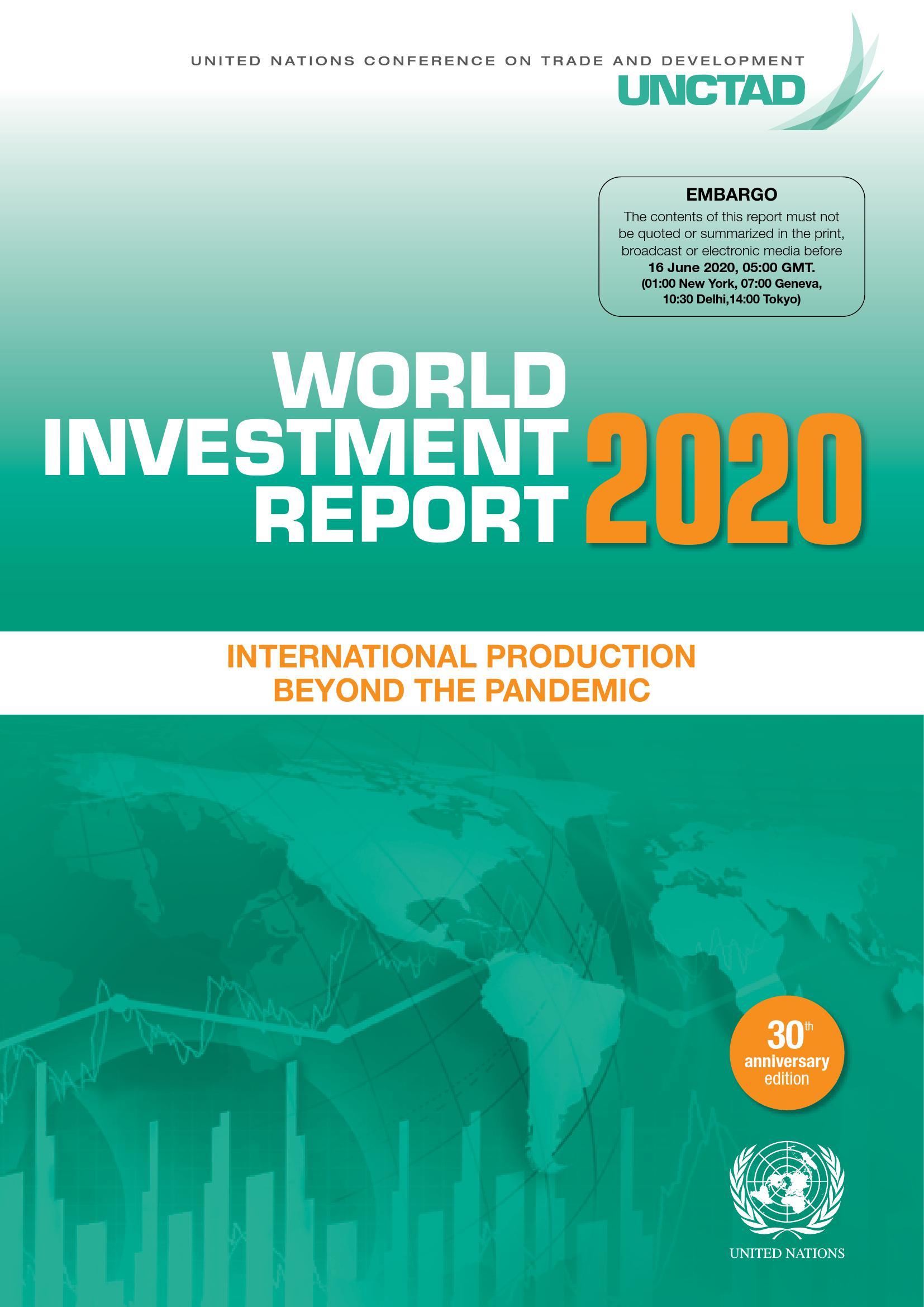 联合国贸易和发展会议:2020年世界投资报告(268页)