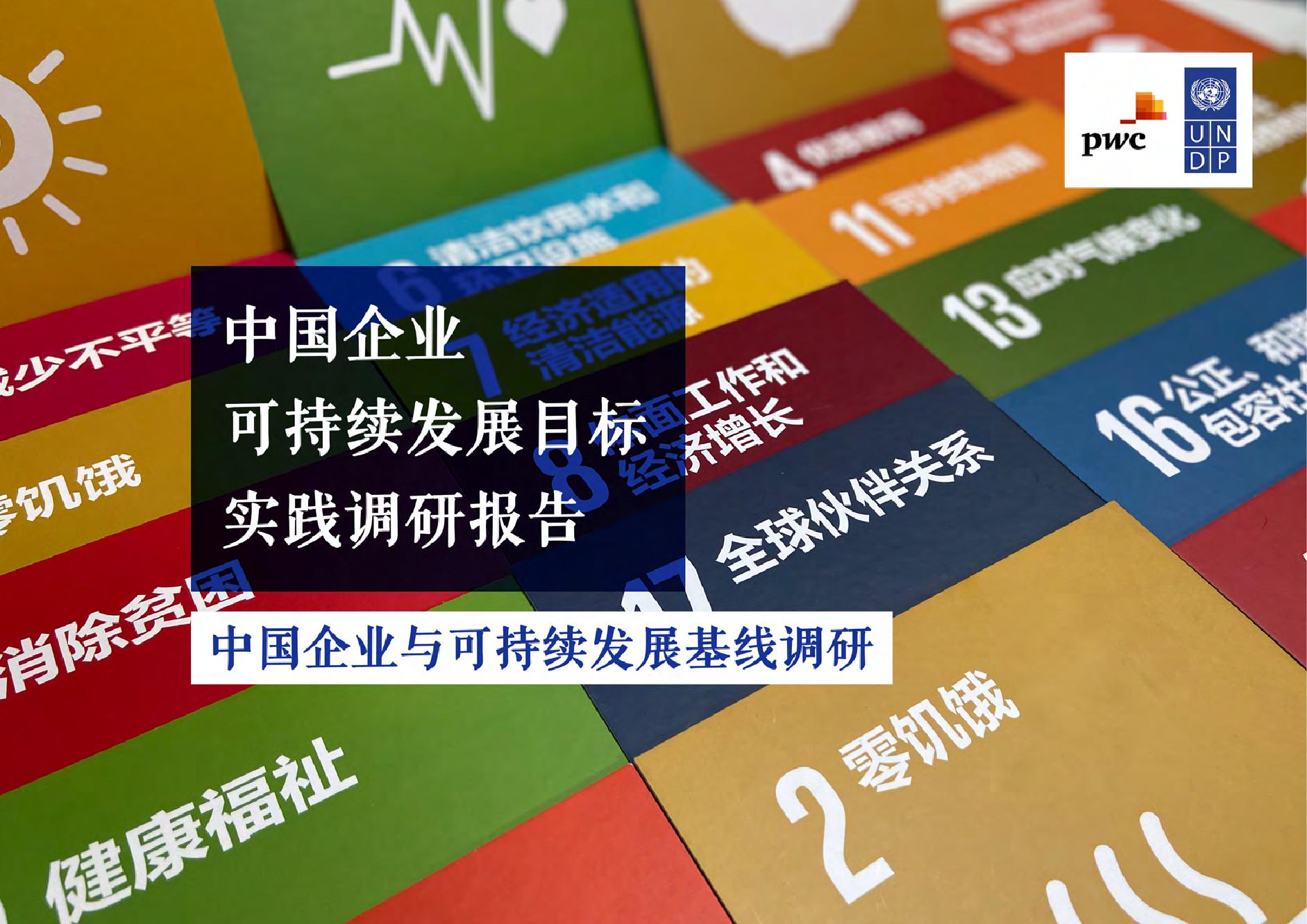 联合国开发计划署:中国企业可持续发展目标实践调研报告(附下载)