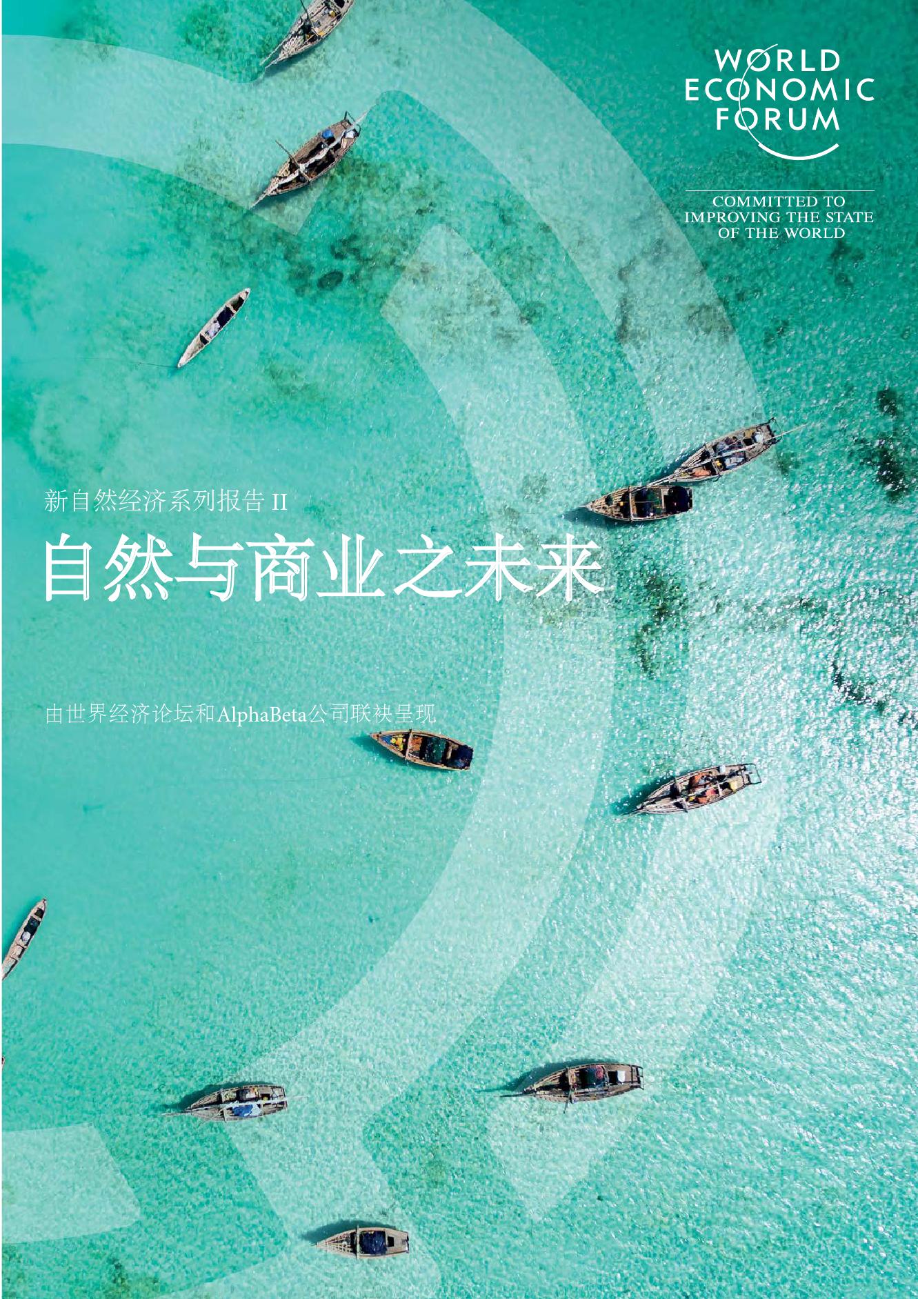 世界经济论坛:自然与商业之未来