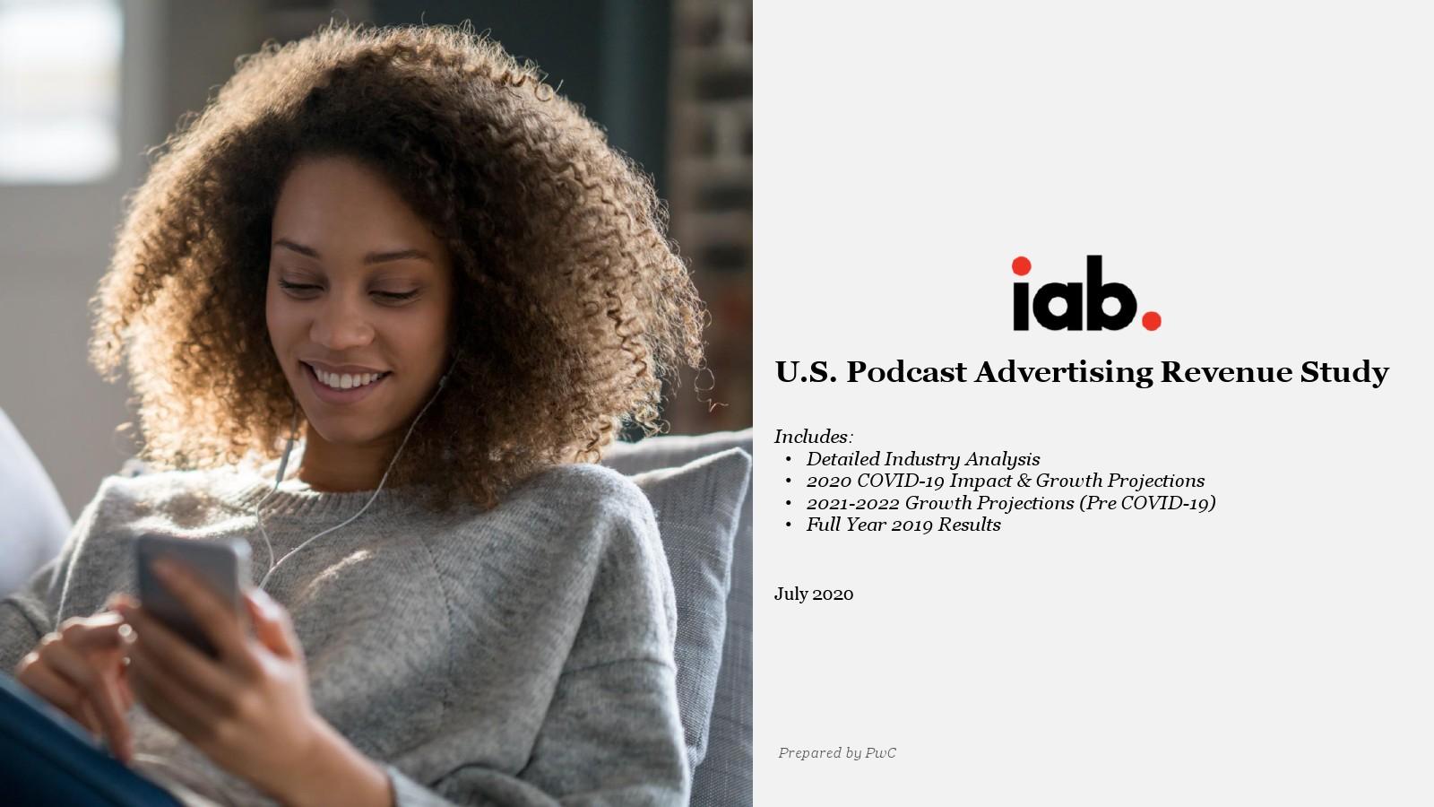 IAB:2020年美国播客广告收入调查报告