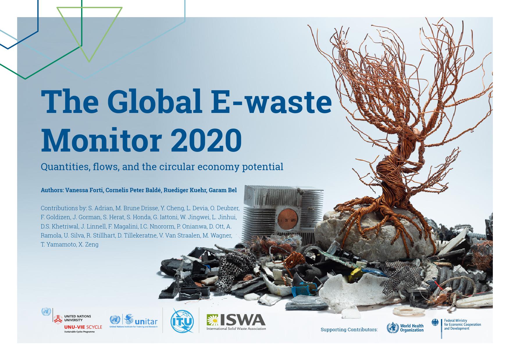 联合国:2020年全球电子废弃物监测报告