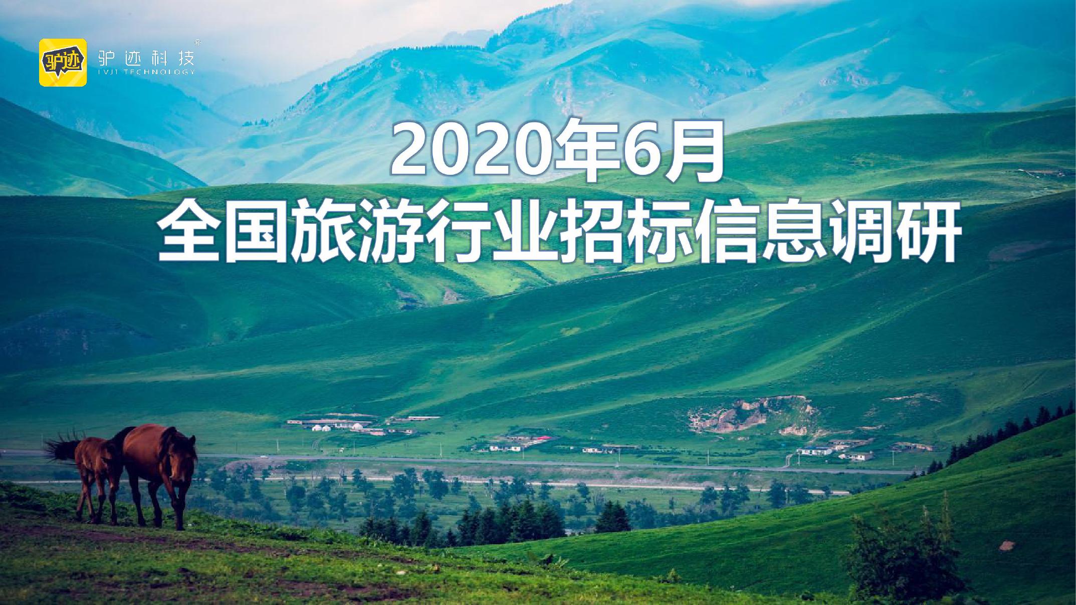 驴迹科技:2020年6月全国旅游行业招标信息调研