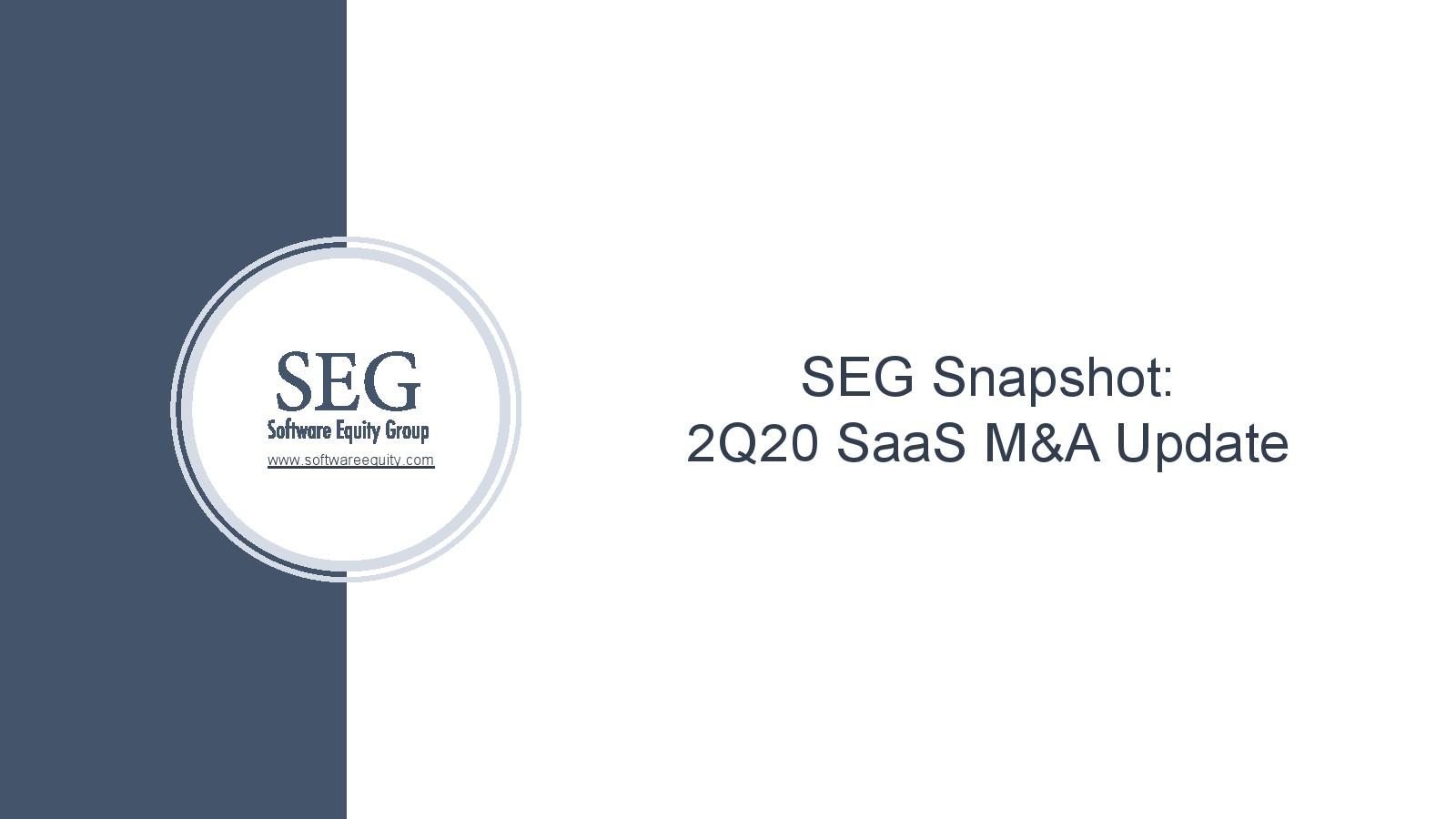 SEG:2020年第二季SaaS并购报告