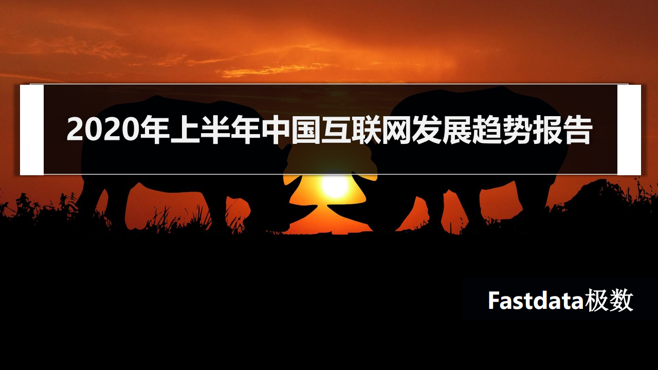 Fastdata极数:2020年上半年中国互联网发展趋势报告