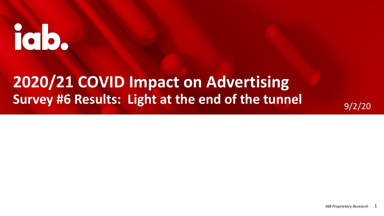 IAB :COVID对2020-2021年广告业的影响