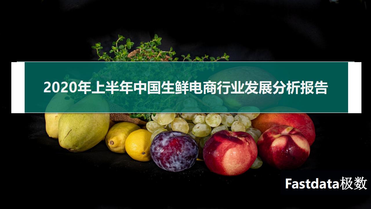 Fastdata:2020年上半年中国生鲜电商行业发展分析报告