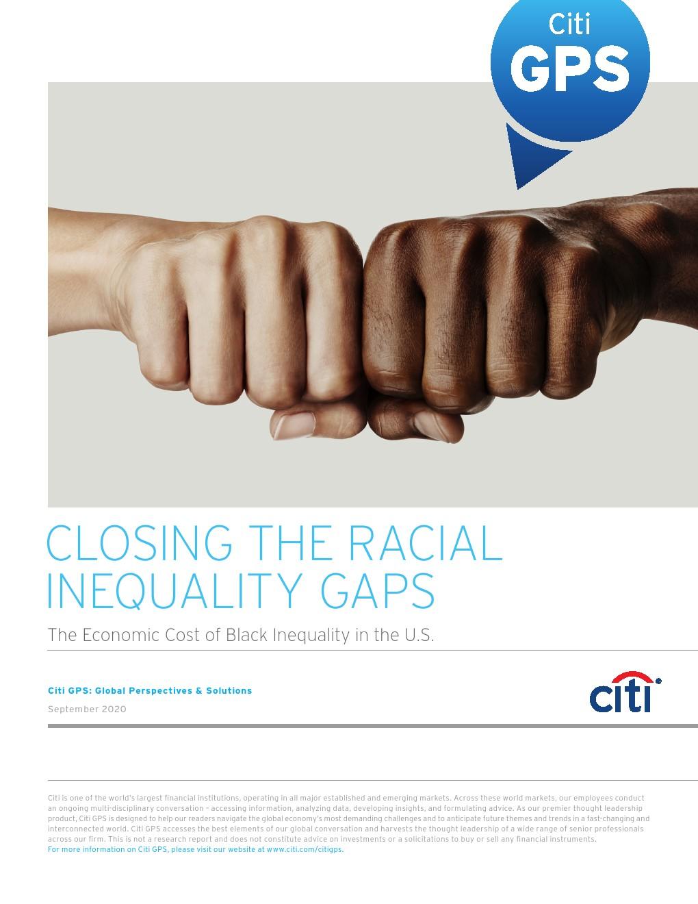 花旗银行报告:消除种族不平等差距