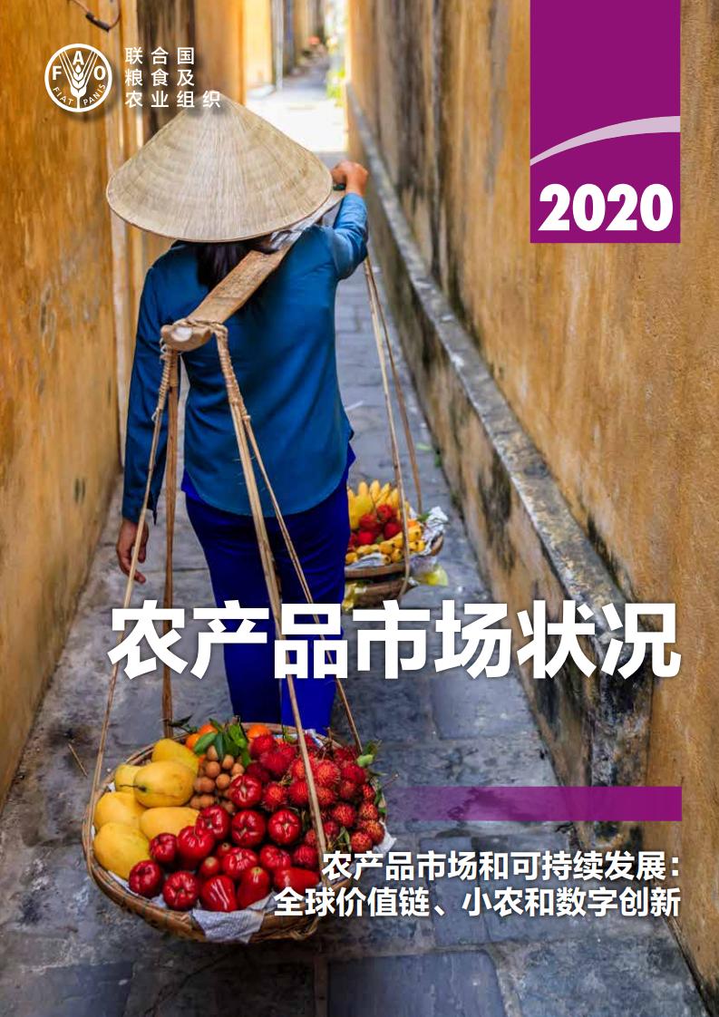 联合国粮农组织:2020年农产品市场状况报告(164页)