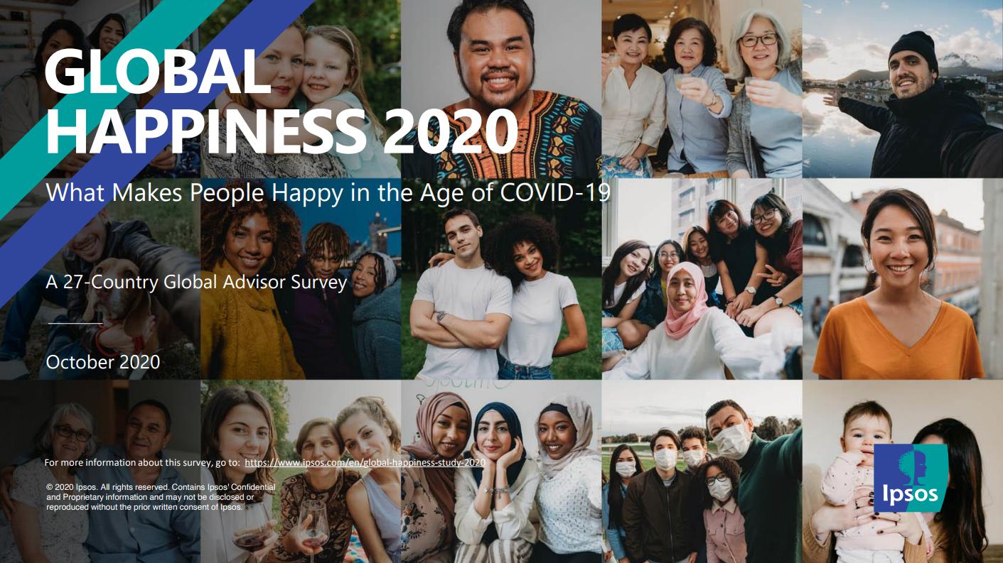 益普索Ipsos:2020年度全球幸福感调查报告
