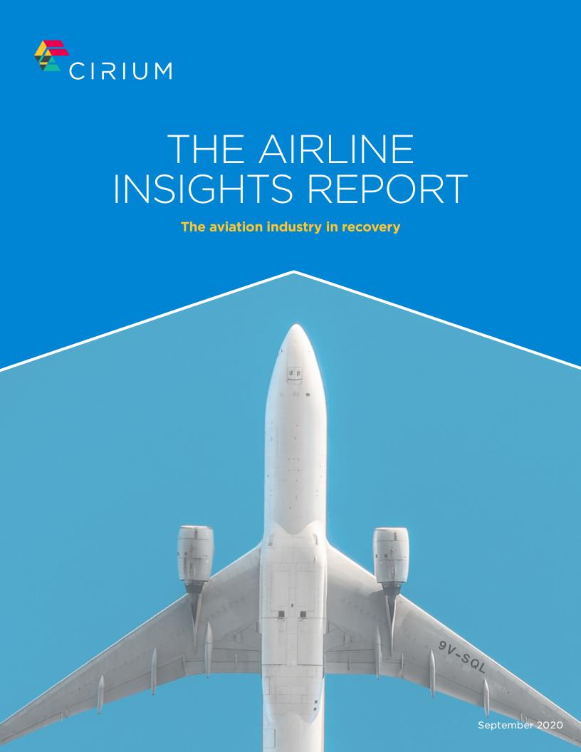 Cirium:2020年9月航空洞察报告