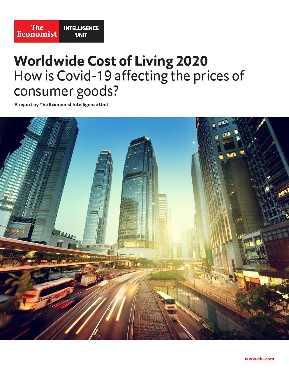 经济学人:2020年世界生活成本指数