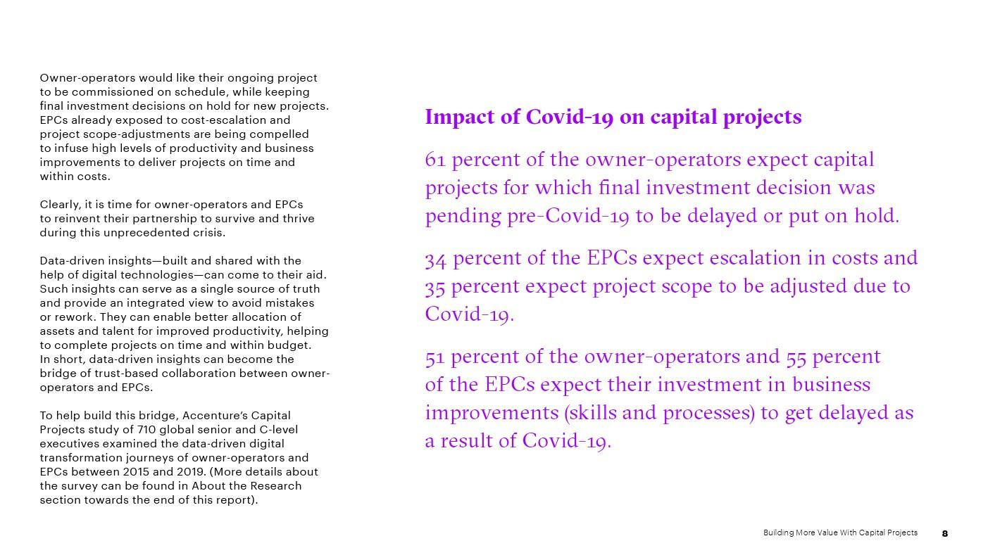埃森哲:通过基本建设项目创造更多价值