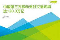 2017年中国第三方支付年度数据发布研究报告_000001.jpg